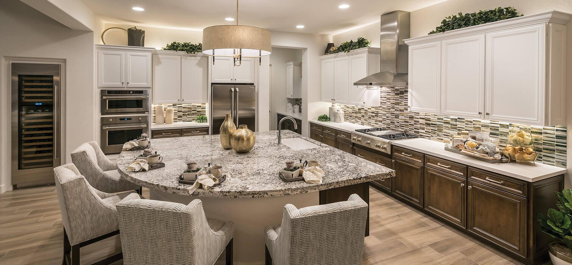 Bacara Model Kitchen at PebbleCreek, Arizona Luxury Retirement Living for Active Adults 55+