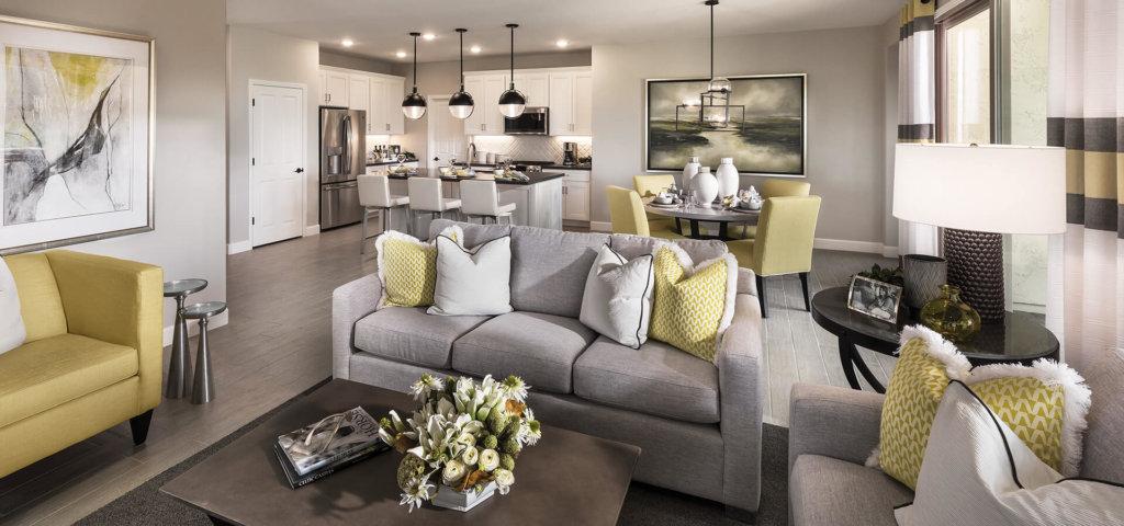 Ocotillo Model Great Room at Quail Creek, a 55+ Active Adult Community near Tucson