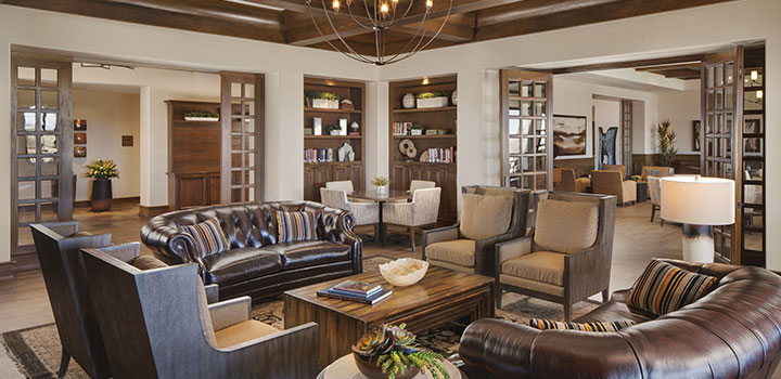 Madera Clubhouse Library at Quail Creek, a 55+ Community