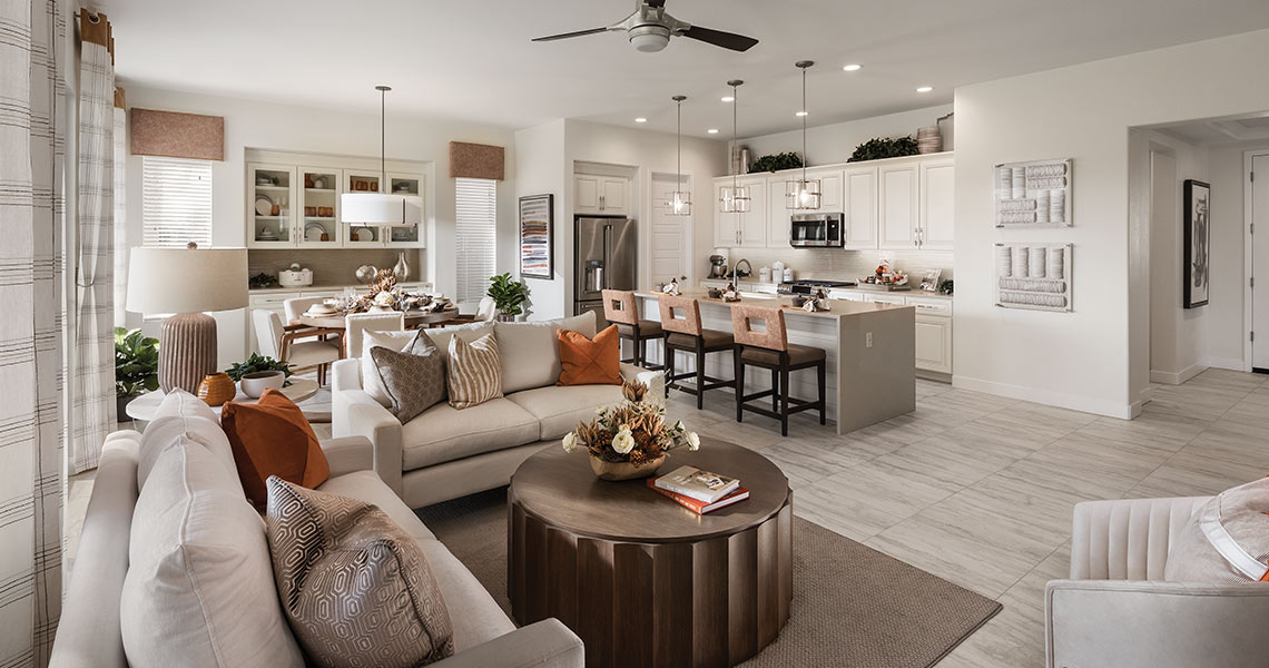 Reva model Graet Room at Robson Ranch Arizona, an Active Adult Community