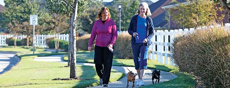 Residents Walking - Robson Ranch Texas