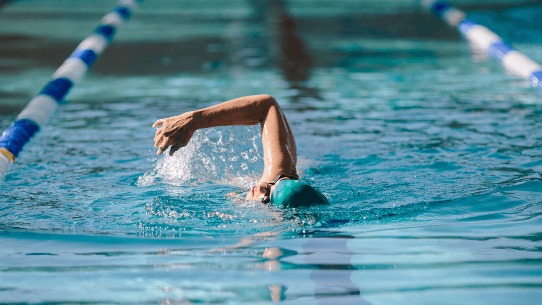 Senior swimming at a Robson Resort Community for active adults 55+